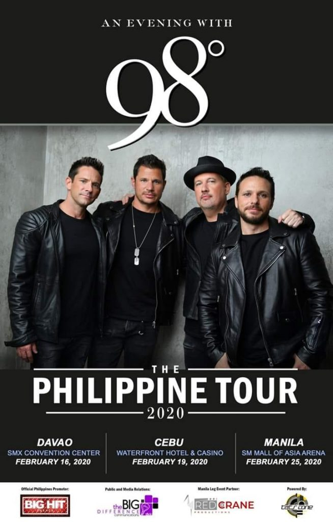 98 degrees Philippines tour 2020